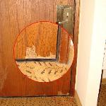 Damage to the door