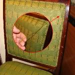 Beaten up chair