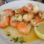 Delicious king prawns.