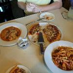 OMG the Pizza! The Lasagna, Penne Arrabiata with the Meatballs Mama Mia!!!