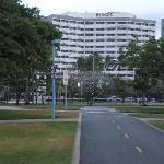 エスプラネード側から見たホテル