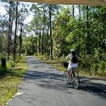 Cyclist loves the level paved trails
