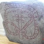 Stone from Baltic Crusades in Latvia