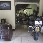 Great indoor motorcycle parking !!