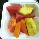 Fruit for breakfast, love the watermelon, pineapple, papaya