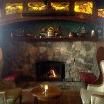 Roaring fire in The Tap Room...so cozy on a Sunday afternoon!