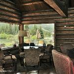 The lodge has wonderful rustic public areas