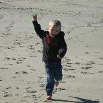 My grandson loved flying kites on the beach