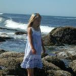 My granddaughter exploring the tide pools