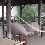 Rooftop poofs & hammocks
