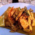 fritto di mare con verdure