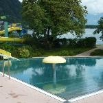 Strand baden (outdoor lido) free to guests and 5 mins walk from Hotel