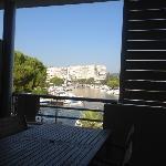 vue depuis la terrasse sur la marina
