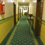 Hallway leading to rooms- cheap and old