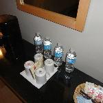 bottiglie d'acqua offerte