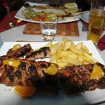 Ribs and grilled fish