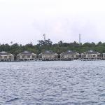 Blick auf die Wasservillas