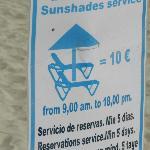 sun bed costs in Alcudia Playa de muro