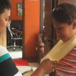 sayonara Nepal! Hotel Director Dhurga wishing me well...