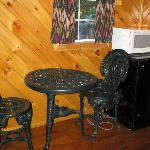 table in cabin