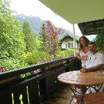 deck was connected to our bedroom, just beautiful and a nice big deck to enjoy the views
