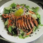 Wild Rice Salad with Spicy seared Ahi Tuna