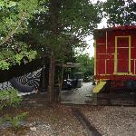 View from rear of caboose