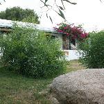 vista delle terrazze delle camere dal giardino antistante