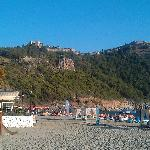 View on Alanya Castle from Cleopatra Beach