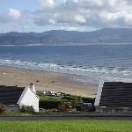 View of Inch Beach from the front of the cottage