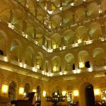 The reception area of the Boscolo hotel