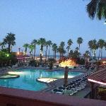 beautiful view in the evening from the patio of the Windjammers resturant
