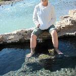 Soaking my feet in the Hot Springs on the Rio Grande.