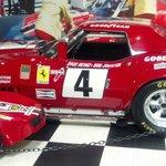 A racing Corvette
