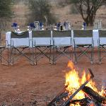 Elaborate and lovely dinner in the bush