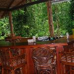 Upstairs at Pacuare Lodge...the bar and lounging area