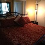 master bedroom in Mountain Suite