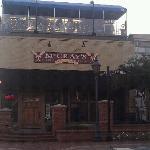 front of establishment, corner of Perry and Crogan.