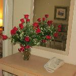 beautiful roses awaited us upon our arrival