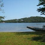 Lake behind the house