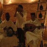 Rachid and musicians welcome us - one of the many treats we had using Morocco Custom Travel.