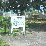 The cemetery at the entrance of the park