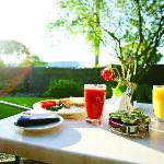 Breakfast on your Garden Suite terrace