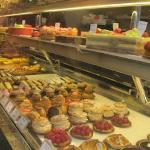 Mouthwatering pastry display