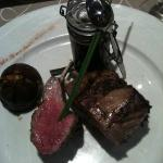 Rack of lamb with honey-infused au jus
