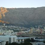 View of Table Mountain from roof-top bar