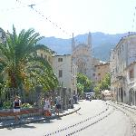 from hostal to Soller centre