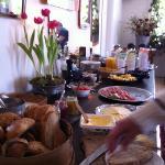 den underbara frukostbuffén