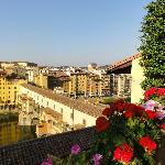 Terrace overlooking Ponte Vecchio
