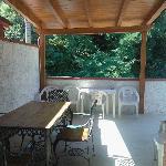 Il terrazzo di ingresso